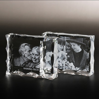 Personalized Crystal Photo Frame Customized Glass 3D Laser Engraved Picture Frames DIY Wedding Family Photo Album For Gifts
