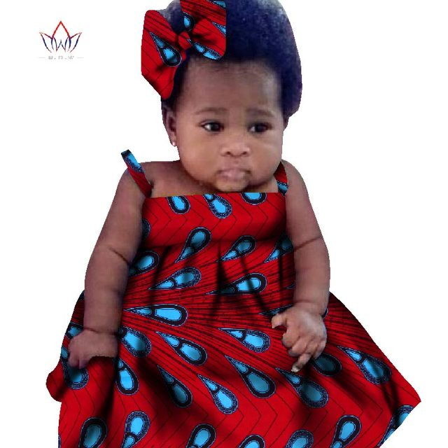 New African Dresses Baby Girl Headwrap Turban African