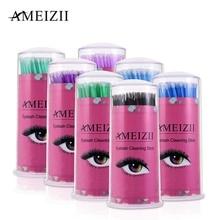 100Pcs Pack Hot Lint Disposable Makeup Brushes Individual Lash Removing Tools Swab Micro brushes Eyelash Extension