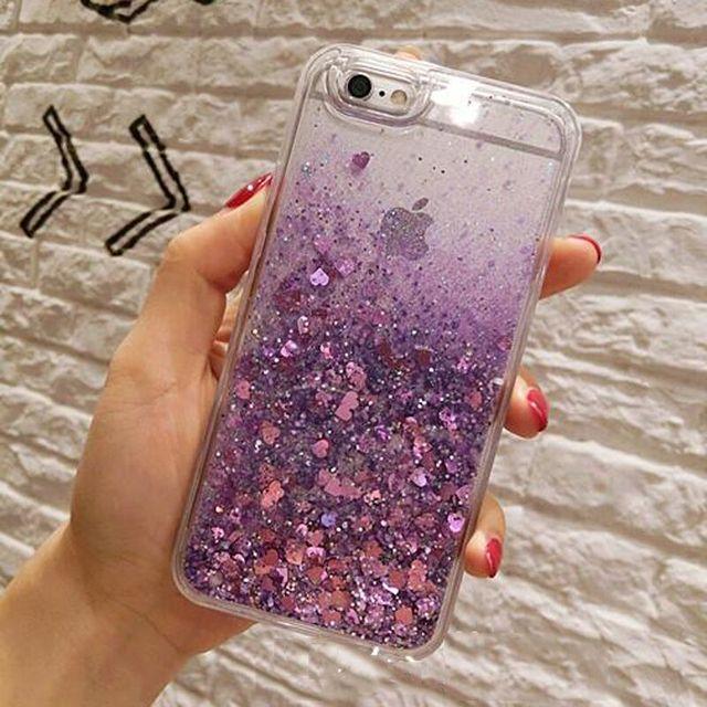 iPhone Case Serduszka z Brokatem