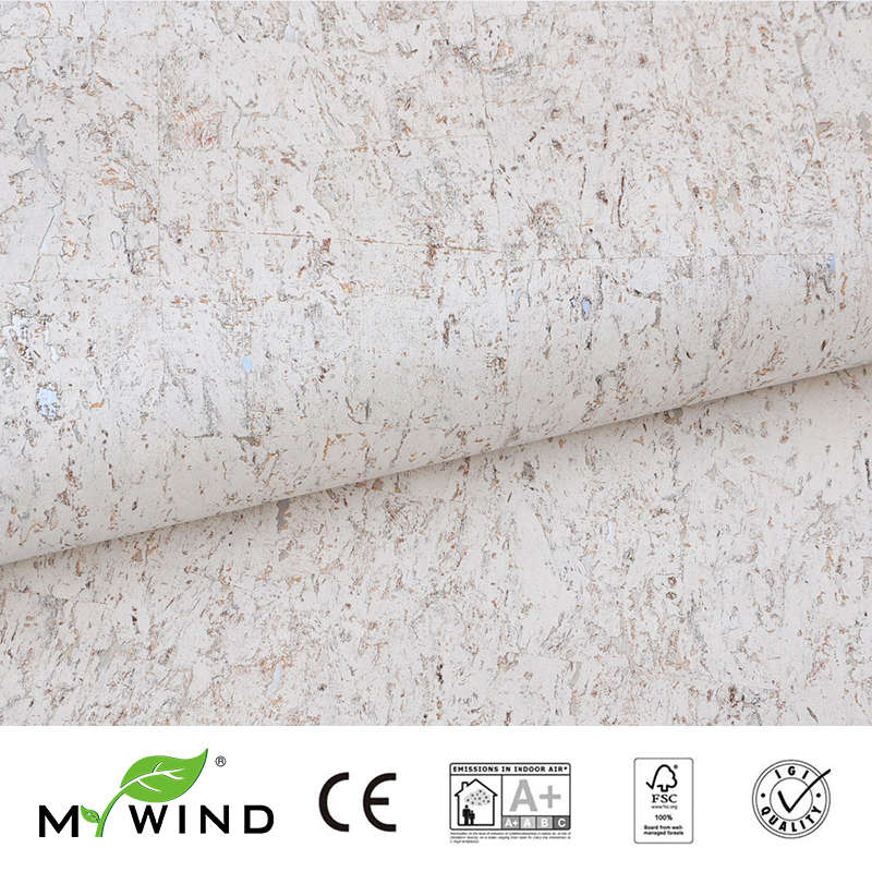 2019 MY WIND Silver White Gold Cork Wallpapers Luxury 100%Real Natural Material Safety Innocuity 3d Wallpaper In Roll Home Decor