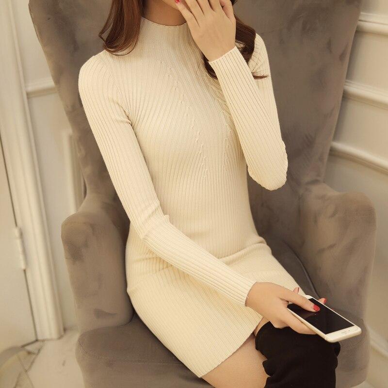 6044 koreai női női pulóver Turtleneck ing fél - Női ruházat - Fénykép 5