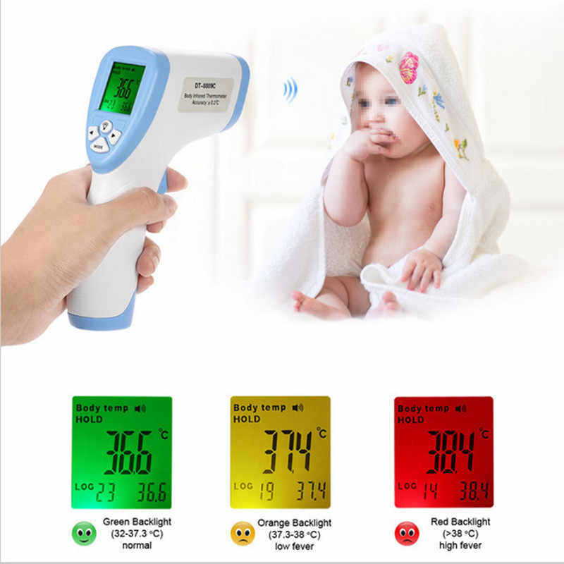 Medical oor Thermometer Body Electronic LED Auto Thermometer Digital Forehead Non-contact koorts thermometer volwassenen
