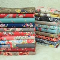 1 Meter Export Canvas Fabric 100 Cotton Printing Cloth With Pastoral Cartoon Bird Handmade Bag Coarse