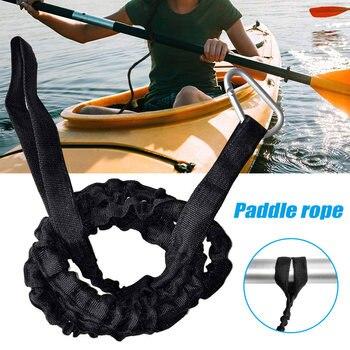 1 Uds. De la correa de la paleta para la Canoa Kayak elástico de la ligadura del barco aleación de aluminio Nylon YS-BUY