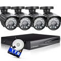 DEFEWAY 1080N HDMI DVR 1200TVL 720 P HD Открытый Камеры Системы Безопасности Дома 1 ТБ 4CH Видеонаблюдения DVR АХД Комплект ВИДЕОНАБЛЮДЕНИЯ