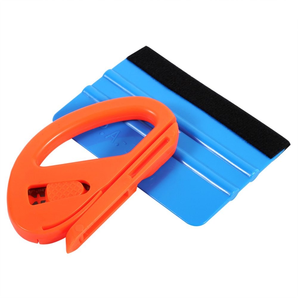 Car Vinyl Film Wrapping Safety Cutter Soft Felt Edge Scraper Squeegee Kit Window Glass Decal Applicator Car Styling Stickers