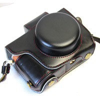Deluxe Edition PU Leather Camera Bag Case Cover For Olympus EPL8 E PL8 14 42mm 40 150mm Lens With Strap Open Battery Design