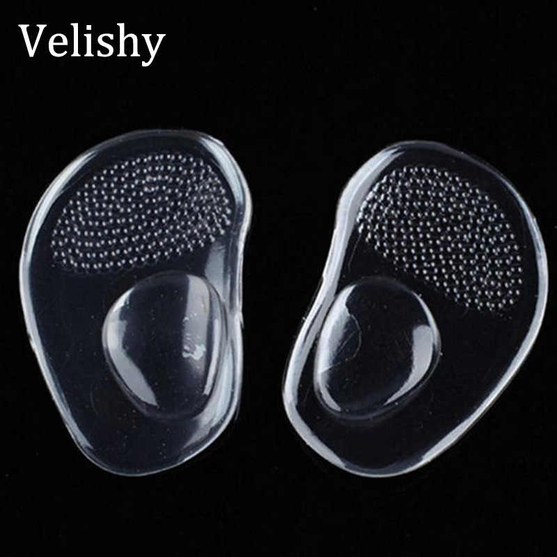 Velishy gel silicone forefoot pad pads insoles inserts massager anti-slip for high heels woman shoes sandals shoes accessories