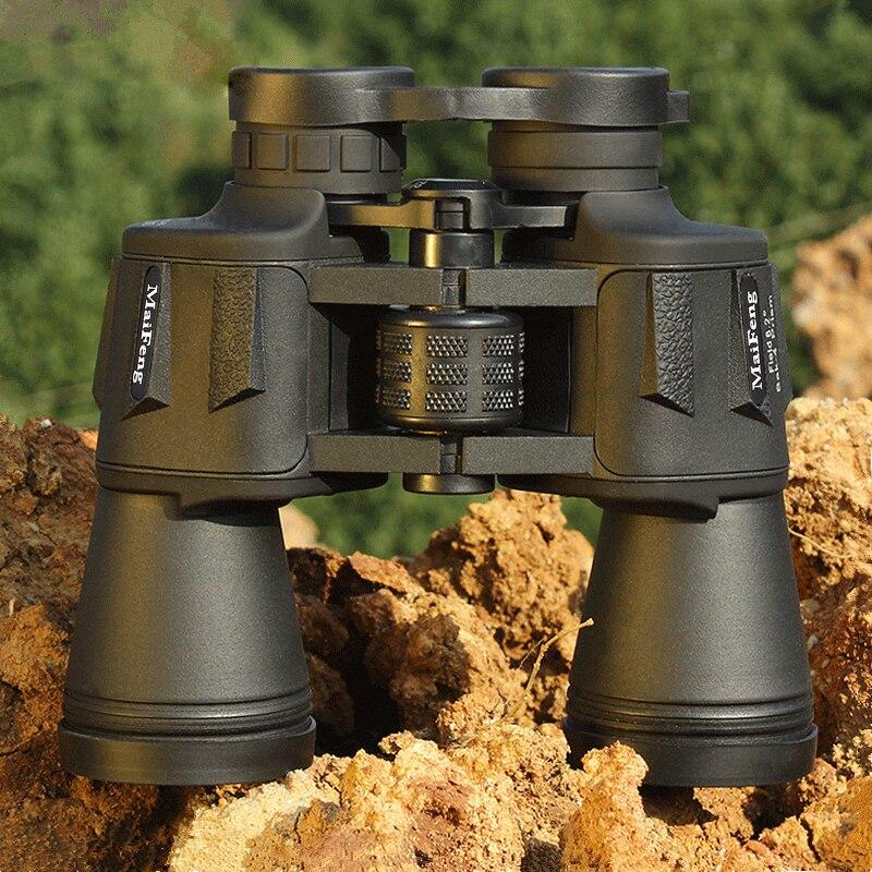 MaiFeng 20X50 мощный бинокль Lll ночного видения широкоугольный окуляр professional binocular Central Zoom telescope No Infrared