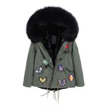 Parkas Womens Fashion Fur Coat Hooded Jacket With Big Raccoon Fur Collar Outwear Warm Winter