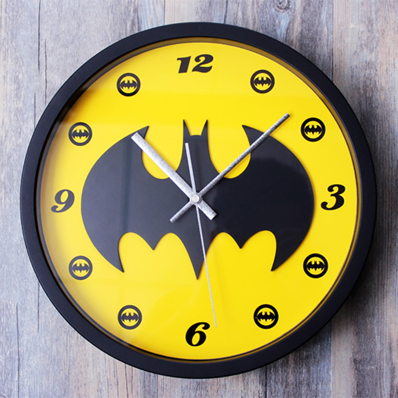 Batman 3d Stereoscopic Wall Clock Retro Cartoon Creative