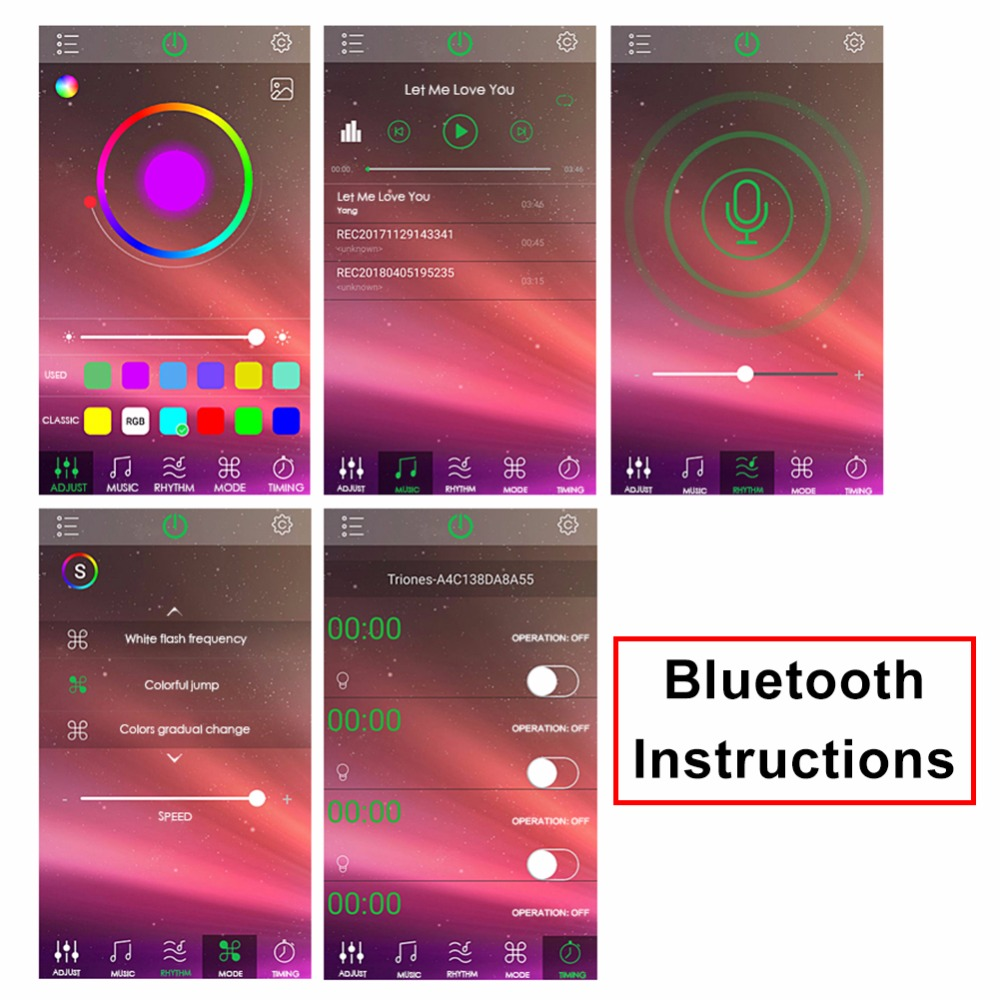 USB Bluetooth RGB Dimmer 5V 24V RGBW LED Controller Android iOS Smartphone  Control 5050 2835 3014 RGB LED Strip Light-in Dimmers from Lights &