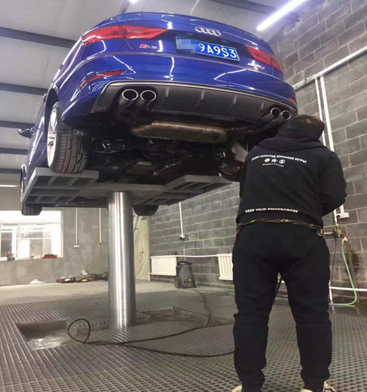 Single Post Car Lift With 4000kgs Load Use In Car Wash