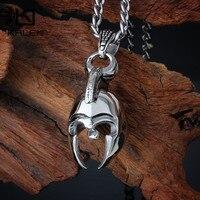 Kalen Vintage Starożytnej Grecji Spartan Wojownik Rycerz Maski Kask Kask Naszyjnik Dla Mężczyzn Ze Stali Nierdzewnej Naszyjnik Biżuteria
