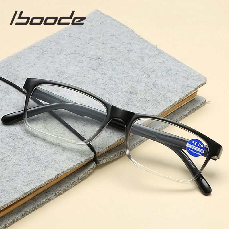 Iboode 2019 Anti Blue Rays Reading Glasses Men Women Hyperopia Presbyopic Glasses Fashion Gradient Color Computer Eyewear Male