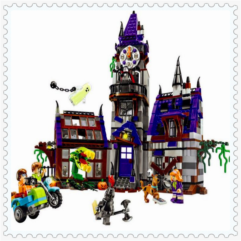 BELA 10432 Scooby-Doo Mystery Mansion Model Building Block 860Pcs DIY Educational  Toys For Children Compatible Legoe decool 3114 city creator 3in1 vehicle transporter building block 264pcs diy educational toys for children compatible legoe