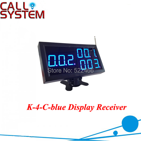Restaurant Display Receiver 3-digit for calling service in 433.92mhz wireless communication wireless pager system 433 92mhz wireless restaurant table buzzer with monitor and watch receiver 3 display 42 call button