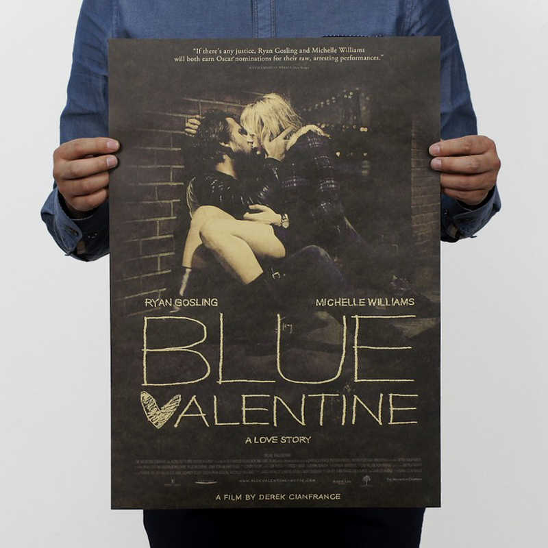 Detail Feedback Questions About Free Shippingblue Valentine Nostalgia Film Classic Movie Kraft Paper Bar Poster Retro Poster Decorative Painting 51x35 5cm