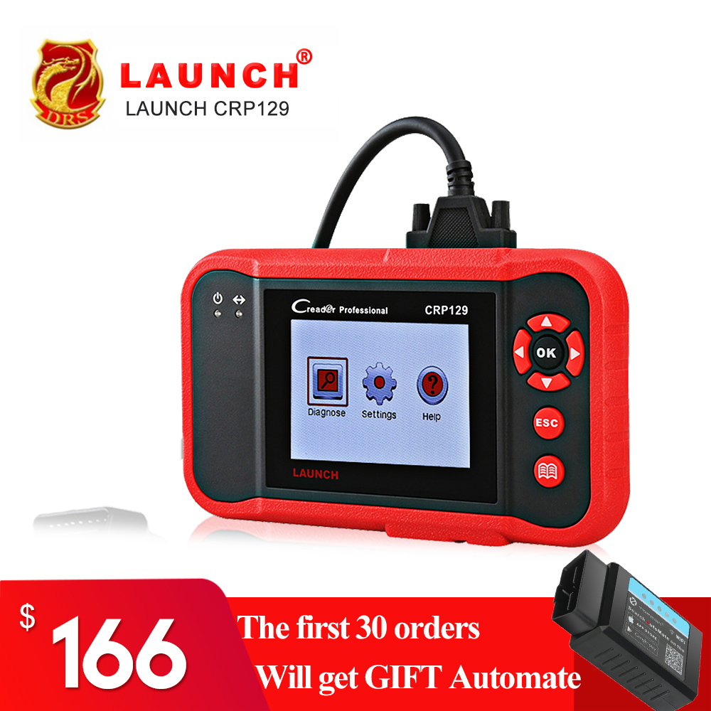все цены на Scanner Launch X431 Creader CRP129 Auto Code Reader OBD2 Automotive Diagnostic Tool Machine Creader VIII 8 ENG AT ABS SRS Tools онлайн