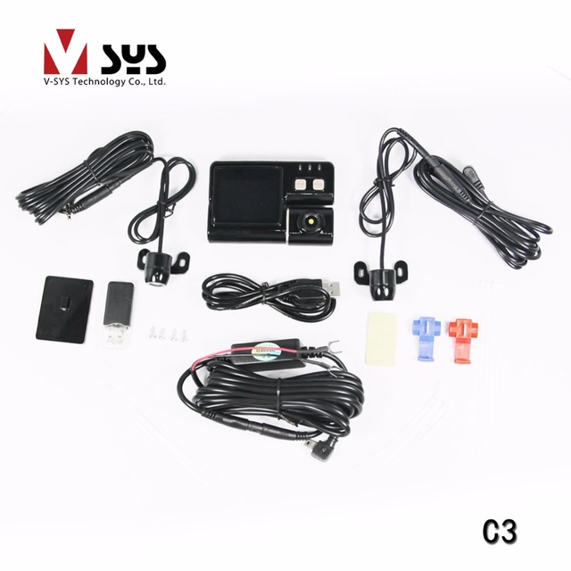Vsys 2017 new arrival 2CH waterproof  lens Mobile vehicle Motorcycle DVR hot sale in Singapore and Taiwan