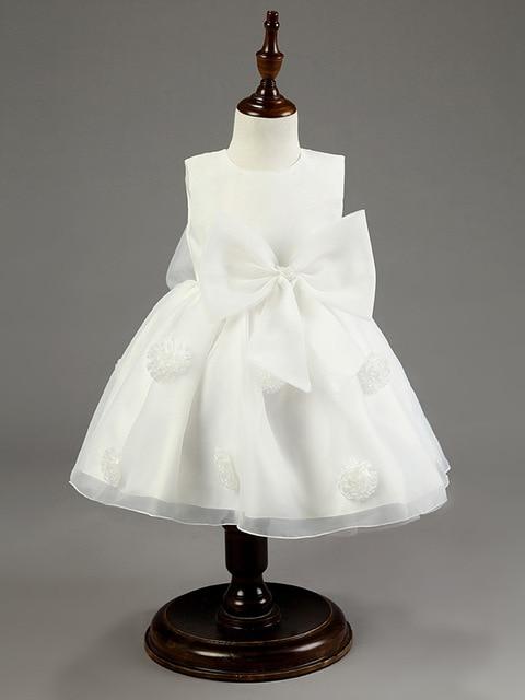 Новый 2015 девочка платье старинные детские Крещение платья роза большой лук девушка платье партии дети рождество одежда и дети одежда