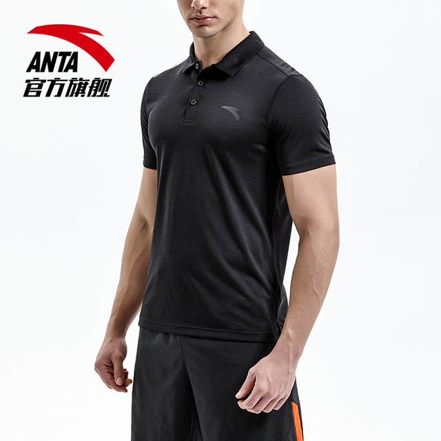 f91703d71 ANTA New Men Energy Technology Short Sleeved Polo Shirt Simple Design  Hygroscopic Quick Drying Sports Tee 15827111