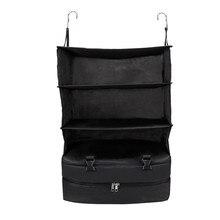 3 слоя Портативный дорожная сумка для хранения молния висит нейлоновая сетка сумка-Органайзер шкаф одежда обувь сумка для хранения