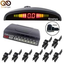Sensores de aparcamiento Sensores de Aparcamiento 8 Sensores del coche 13mm plana 4 Frente 4 Trasera + Pantalla LCD + Voz de Alarma Aparcamiento Radar de Marcha Atrás