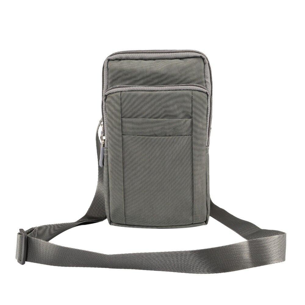 ace5075b8110 Мужская поясная сумка маленькая сумка через плечо нейлоновая сумка через  плечо Повседневная сумка для мобильного телефона