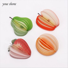 New hot cute sticky notes creative DIY fruit and vegetable memorandum this apple paper