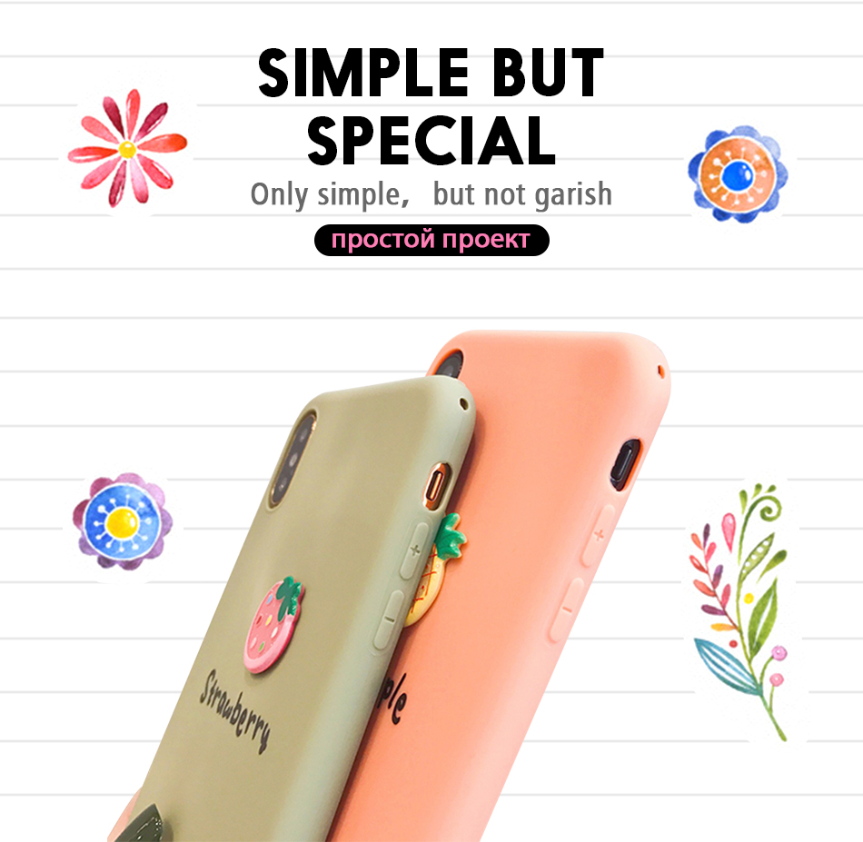 Pohiks Capa For iPhone XS Max XR X 6 7 8 Plus Fruits Pineapple Strawberry Soft Phone Case Cover For iphone X xR XS MAx Fundas