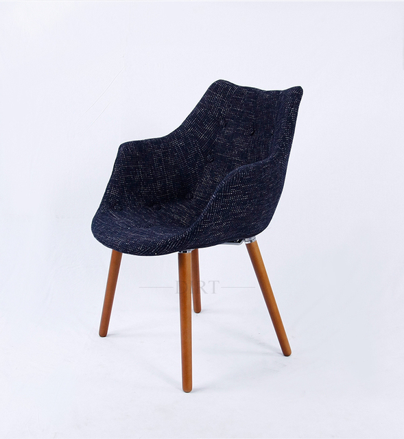 Free Shipping Coffee Shop Fabric Armchair