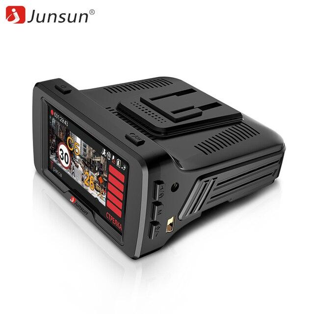 Junsun Автомобильный dvr Радар-детектор gps 3 в 1 FHD1296P 170 Degre Ambarella регистратор Dashcam Speedcam Анти радар для России рекордер