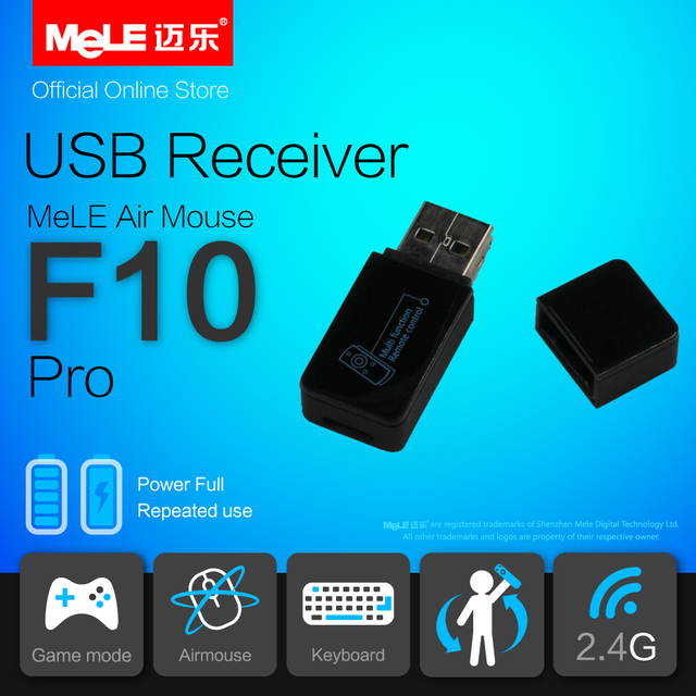 2.4GHz USB Receiver for MeLE F10 Pro Fly Air Mouse Wireless Keyboard Remote Control