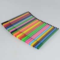 12/24 cores lápis de cor caneta caneta canetas coloridas material de papel escolar kawaii