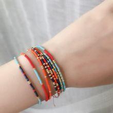 Simple Miyuki Thin Bracelet Women Handmade Color Beads Seed Crystal Pulsera Bangles Boho Adjustable Lucky Love Jewelry