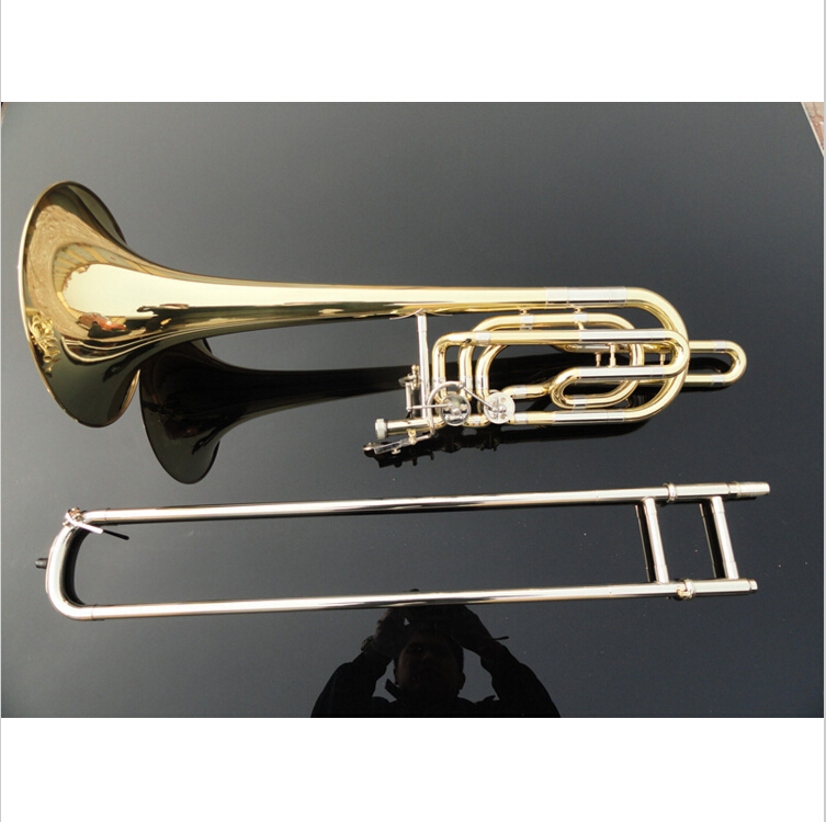 Bach 36 B Tone Brass Tenor Trombone Playing Musical Instrument Double Adjustable Trombone With Cupronickel Mouthpiece Case compatible cartridges for hp83