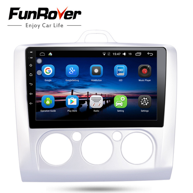 """Funrover 2 din 9"""" Android8.0 car dvd Multimedia for Ford Focus 2 2004-2011 Mondeo Galaxy S-max smax Kuga c-max gps wifi navi rds"""