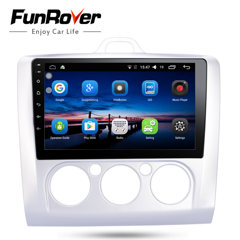 Funrover 2 din 9 Android8.0 car dvd player for Ford Focus 2 3 2004-2011 Mondeo Galaxy S-max smax Kuga c-max car radio gps wifi