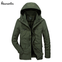 2017 Winter Male Fashion Cotton Coat Afs Jeep Casual Long Parkas Jacket With Hooded Cashmere Down