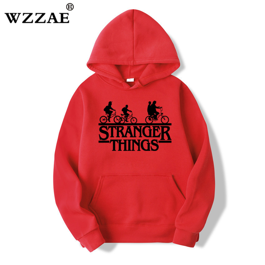 2019 Trendy Faces Stranger Things Hooded Mens Hoodies and Sweatshirts Oversized for Autumn with Hip Hop Winter Hoodies Men Brand 3