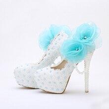 Süße Nette 2016 Handgemachte Hochzeitsschuhe Weiß Spitze Geburtstag Schuhe Frauen Frühjahr Applikationen Mutter der Braut Schuhe