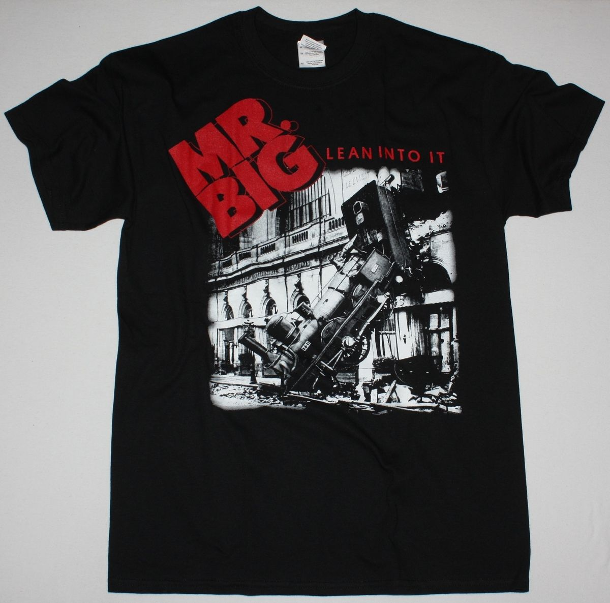 MR BIG LEAN INTO IT HARD ROCK BAND EXTREME IMPELLITTERI NEW BLACK T-SHIRT image