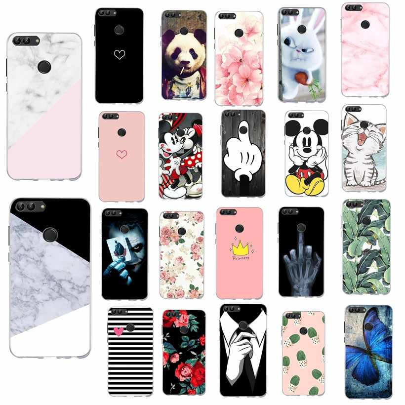 Cartoon Silicone Case For Huawei P20 Lite Case Cute Bumper For Huawei P Smart Mate 10 Lite P20 Pro P9 P10 P 20 Lite Funda Coque