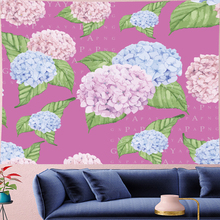 Nordic Style Hydrangea macrame Tapestry Kids room flower pink Wall Hanging Vintage Pattern Tapestries home decor  GN.PAPAYA