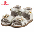 FLAMINGO famous brand 2016 New Arrival Spring & Summer Kids Fashion High Quality sandals for girls 61-QS118