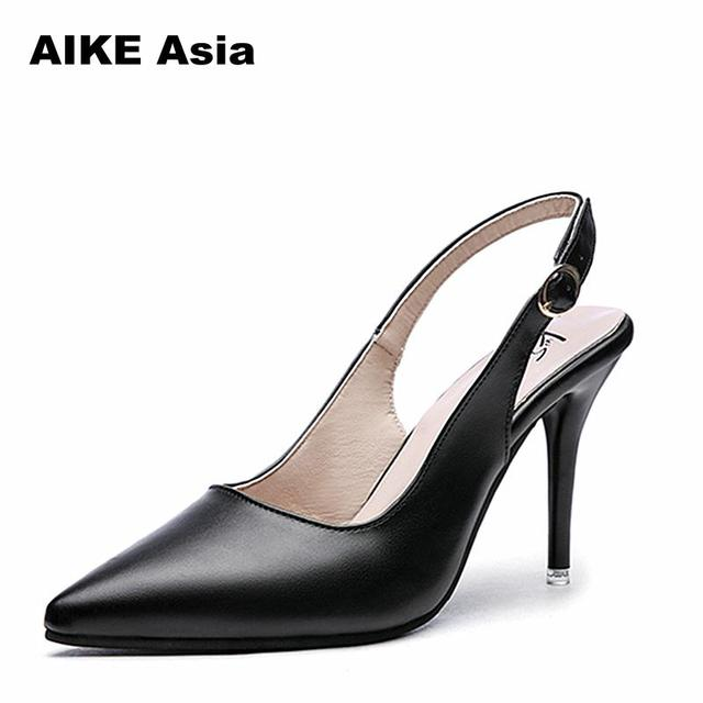 ae4ec7748c US $12.21 |2018 New Fashion high heels Women Pumps Thin Heel Classic  Wedding Shoes Sexy Prom Party Shoes sandals Casual Pointed Toe-in Women's  Pumps ...