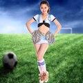 2014 по футболу детская одежда черлидинг производительность одежда болельщик танцевальная одежда женский сценический костюм костюмы DS