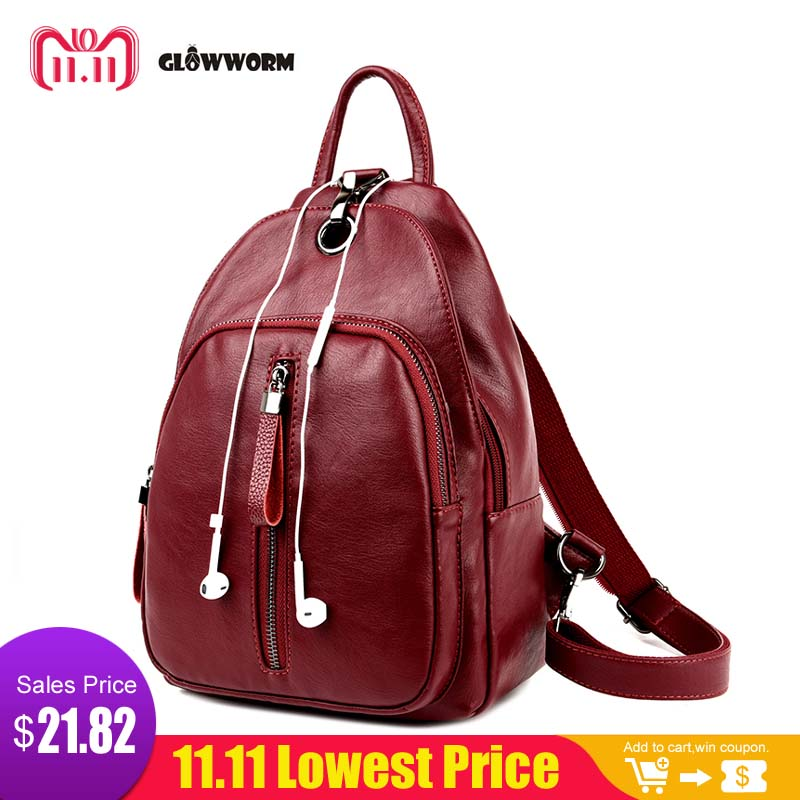 Casual Backpack Women Genuine Leather Backpack For Girls School Bags Mochila High Quality Leather Travel Shoulder Bag Female все цены